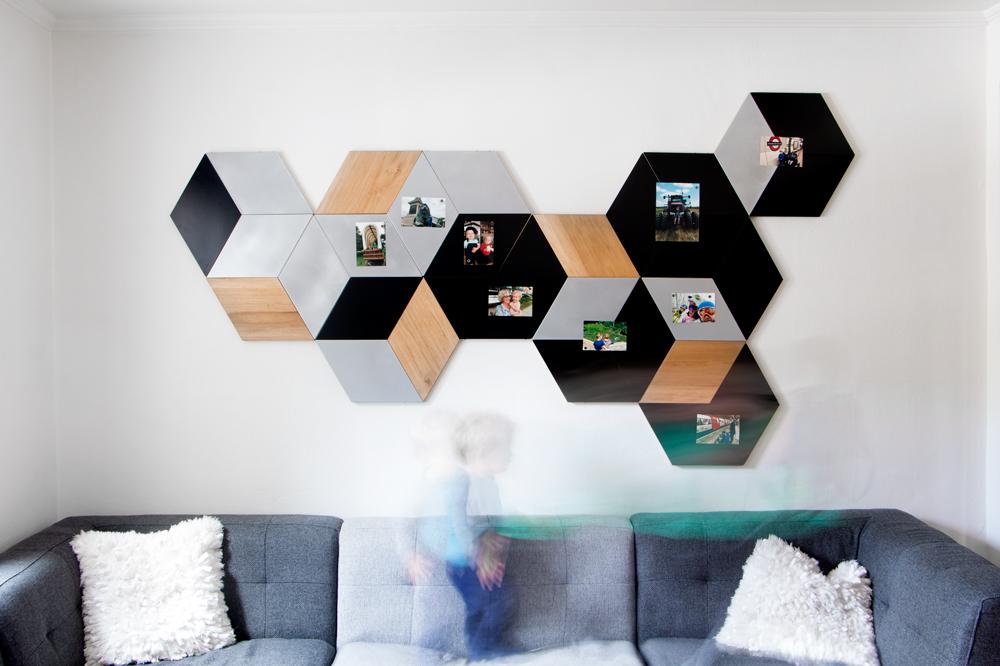 Rhombus-wall-Magnet-board